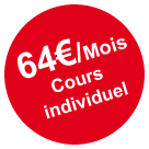Cours individuel 58€/ Mois